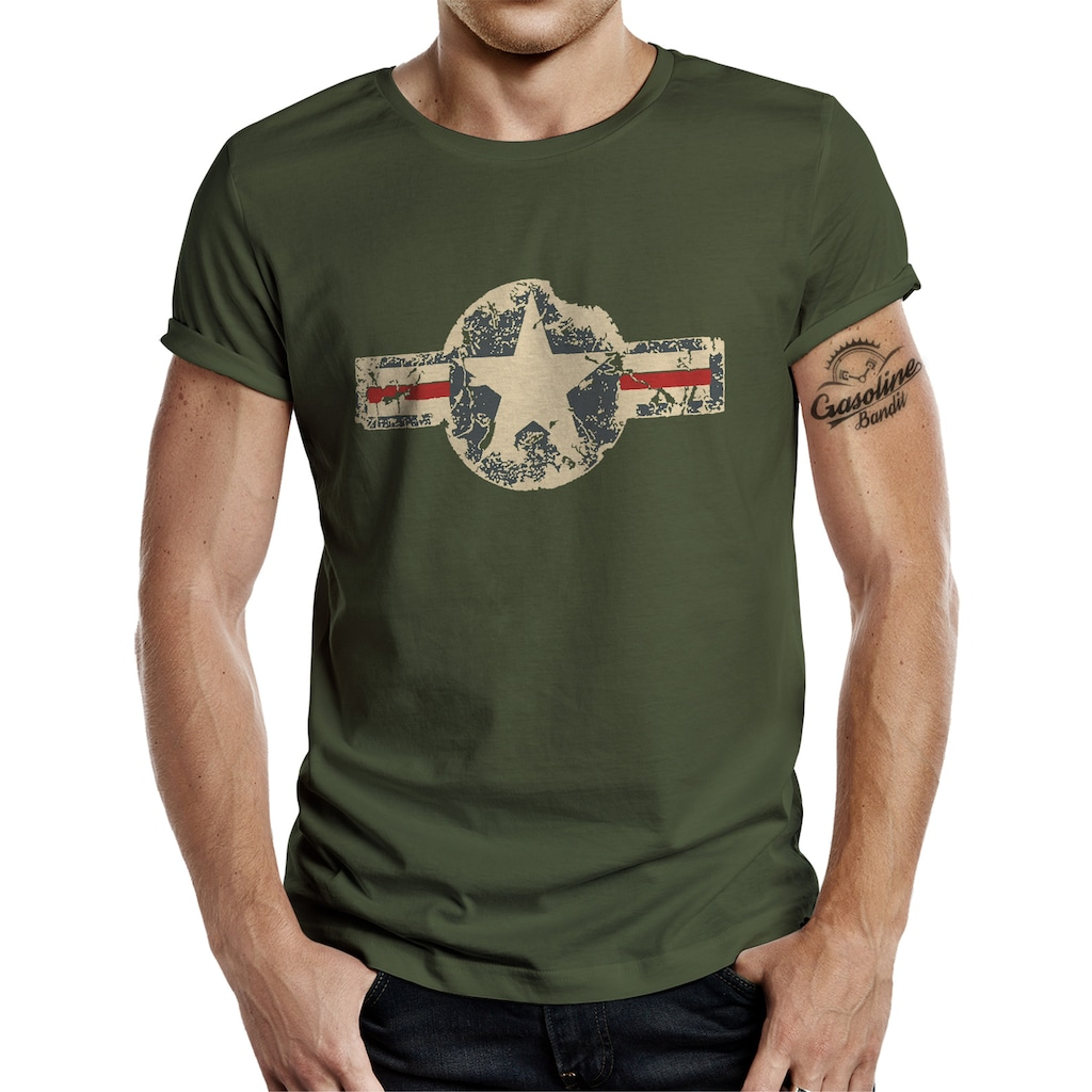 GASOLINE BANDIT® T-Shirt im angesagten Army-Look