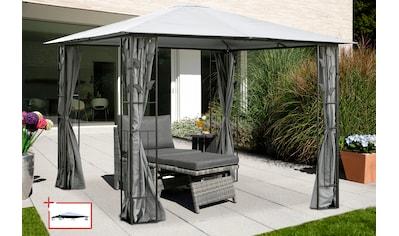 KONIFERA Pavillon »Kreta«, BxT: 300x300 cm, Stahlgestell, mit Ersatz-Dach kaufen