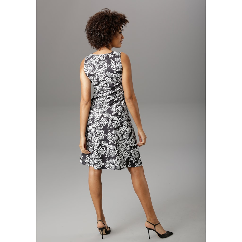 Aniston SELECTED Sommerkleid, im eleganten Rosendruck - NEUE KOLLEKTION