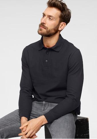 OTTO products Langarm-Poloshirt, aus zertifizierter Bio-Baumwolle kaufen