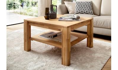 MCA furniture Couchtisch, Couchtisch Massivholztisch mit Ablage kaufen