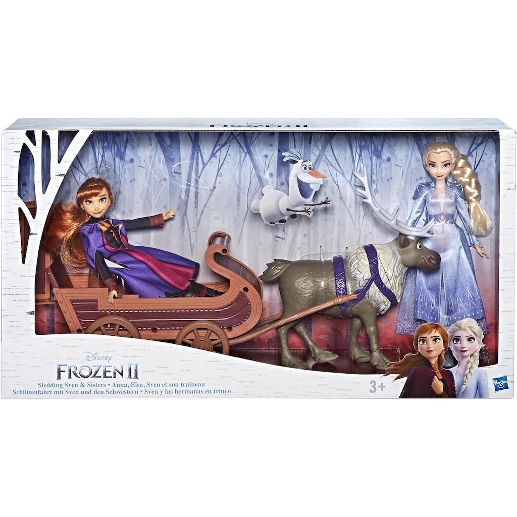 Hasbro Anziehpuppe »Die Eiskönigin II, Schlittenfahrt mit Sven und den Schwestern Elsa und Anna«, Spielset