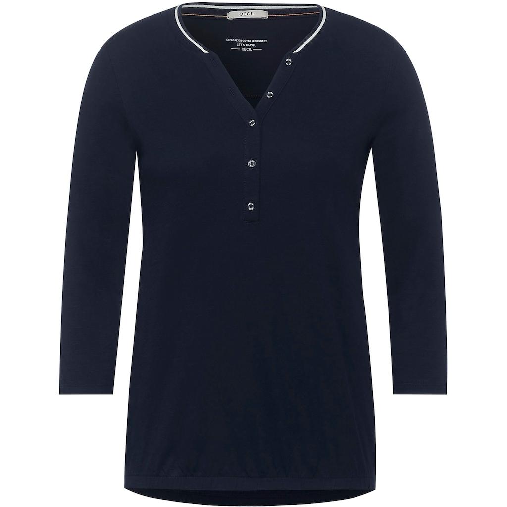 Cecil 3/4-Arm-Shirt, mit Struktur-Optik