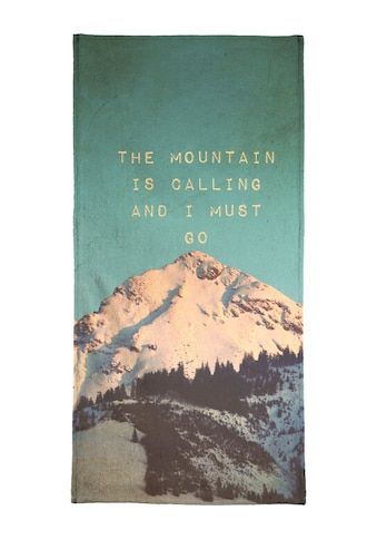 "Handtuch ""Mountain Is Calling"", Juniqe kaufen"