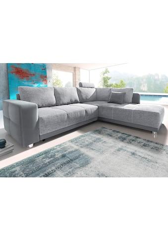 Places of Style Ecksofa, mit Bettfunktion, Bettkasten und Federkern, wahlweise mit 1... kaufen