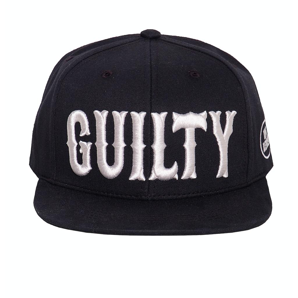 KingKerosin Flat Cap »Guilty 3D«, mit cooler 3D-Stickerei und Print