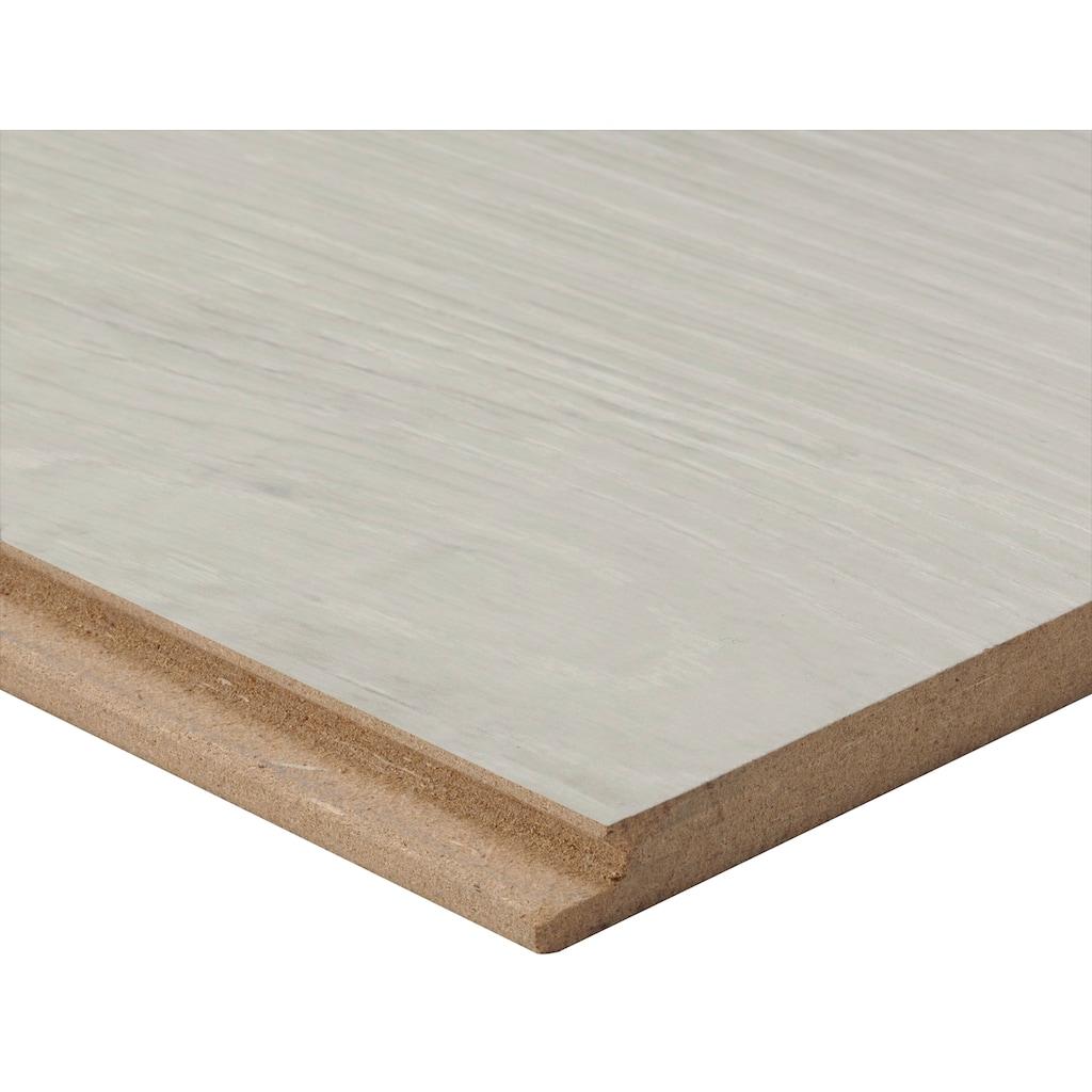 Bodenmeister Laminat »Dielenoptik Eiche weiß sägerau«, Landhausdiele 1380 x 244 mm, Stärke: 8 mm