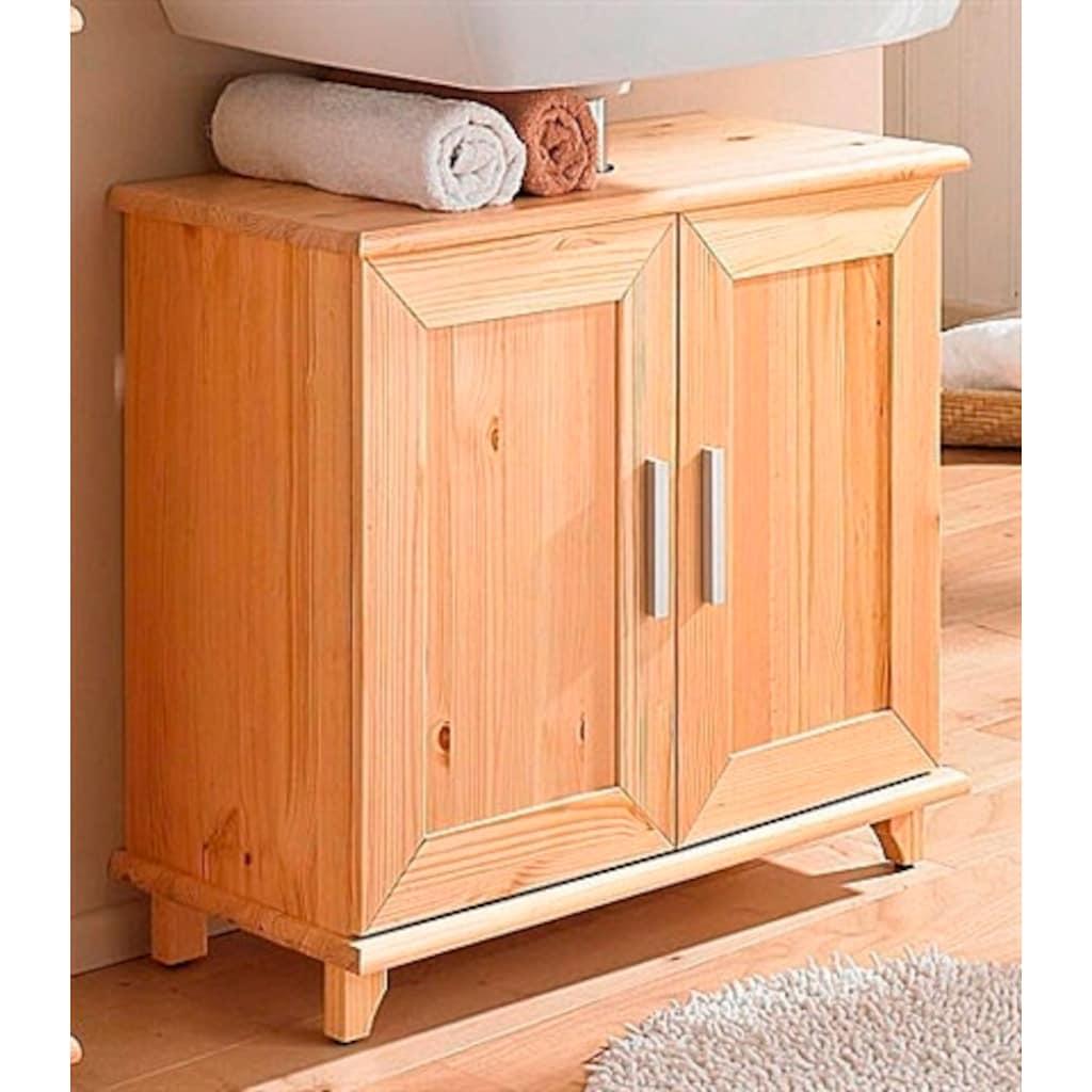 welltime Waschbeckenunterschrank »Rügen«, Breite 67 cm, aus Massivholz