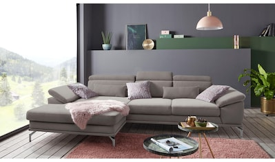 sit&more Ecksofa, inklusive Sitztiefenverstellung, wahlweise mit Kopf- und Armteilverstellung, inklusive Federkern, frei im Raum stellbar kaufen