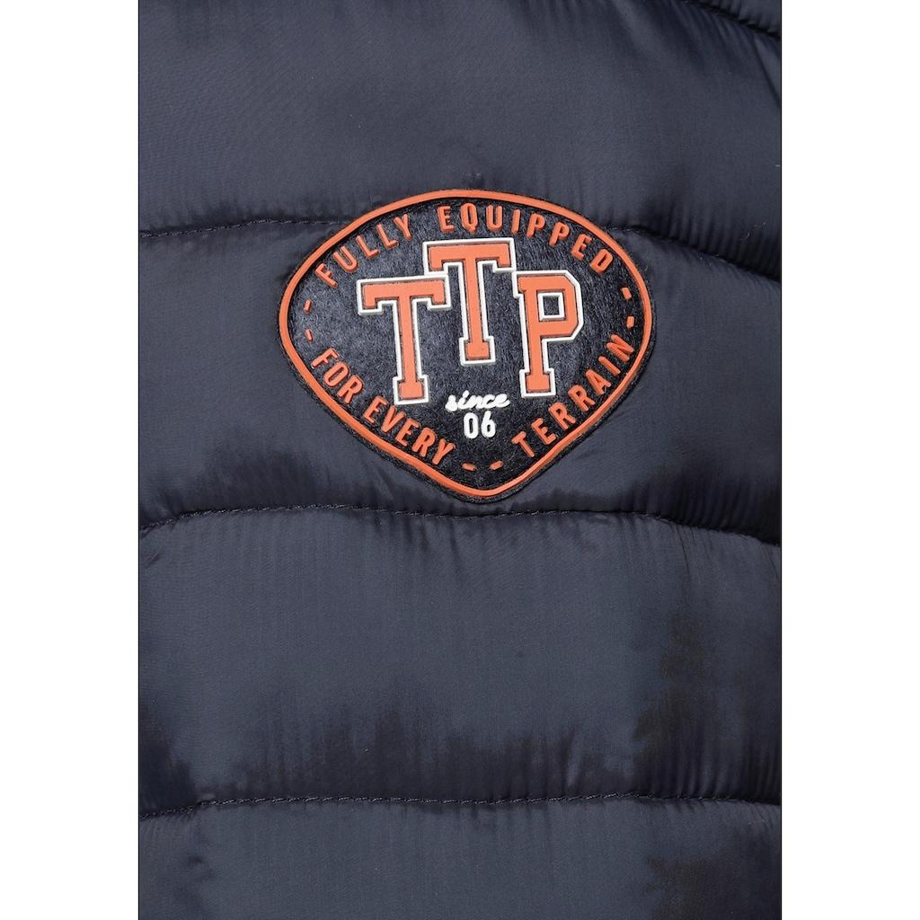 TOM TAILOR Polo Team Steppjacke, mit Kapuze