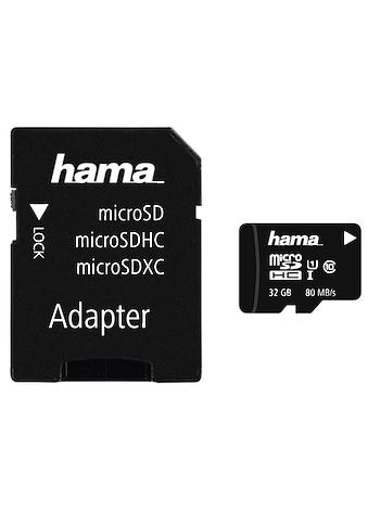 Hama microSDHC 32 GB Class 10 UHS-I 80MB/s + Adapter/Foto kaufen