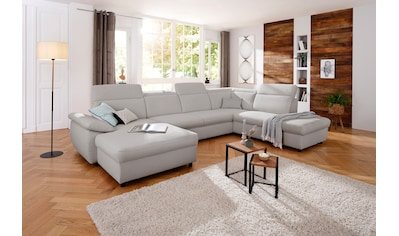 Home affaire Wohnlandschaft »Mauritius«, mit Kopfteil- und Armlehnverstellung, wahlweise mit Bettfunktion und Bettkasten kaufen