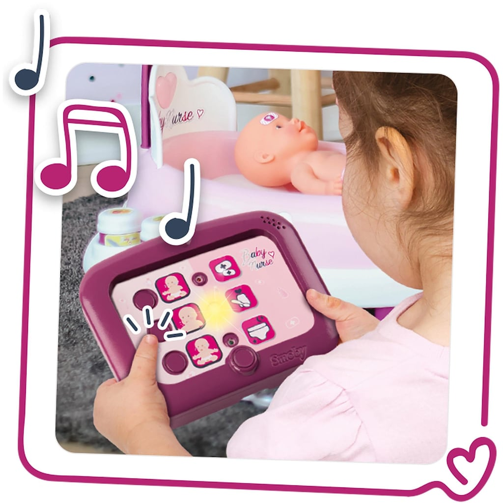 Smoby Puppen Pflegecenter »Baby Nurse elektronische Puppenpflege-Station«, Made in Europe
