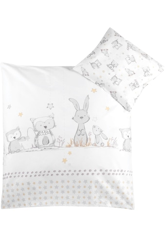 Julius Zöllner Kinderbettwäsche »Häschen und Eule«, mit Hasen und Eule kaufen
