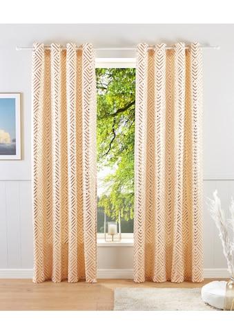 Guido Maria Kretschmer Home&Living Vorhang »Gian«, bedruckter Samt kaufen
