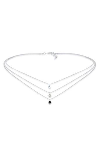 Elli Collierkettchen »Choker 3-reihig Kristalle Silber« kaufen
