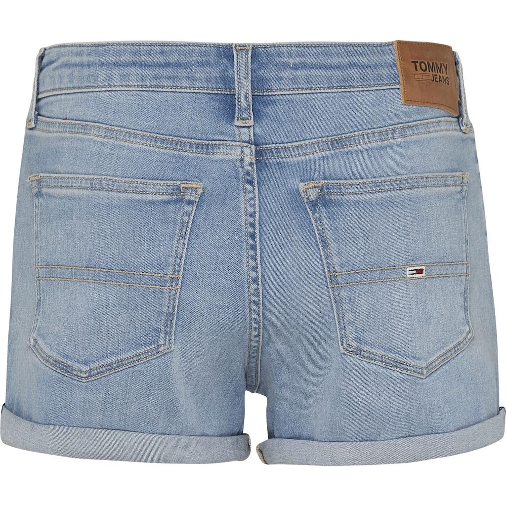 Tommy Jeans Shorts »MR DENIM SHORT TMBS«, zum krempeln mit Tommy Jeans Logo-Badge