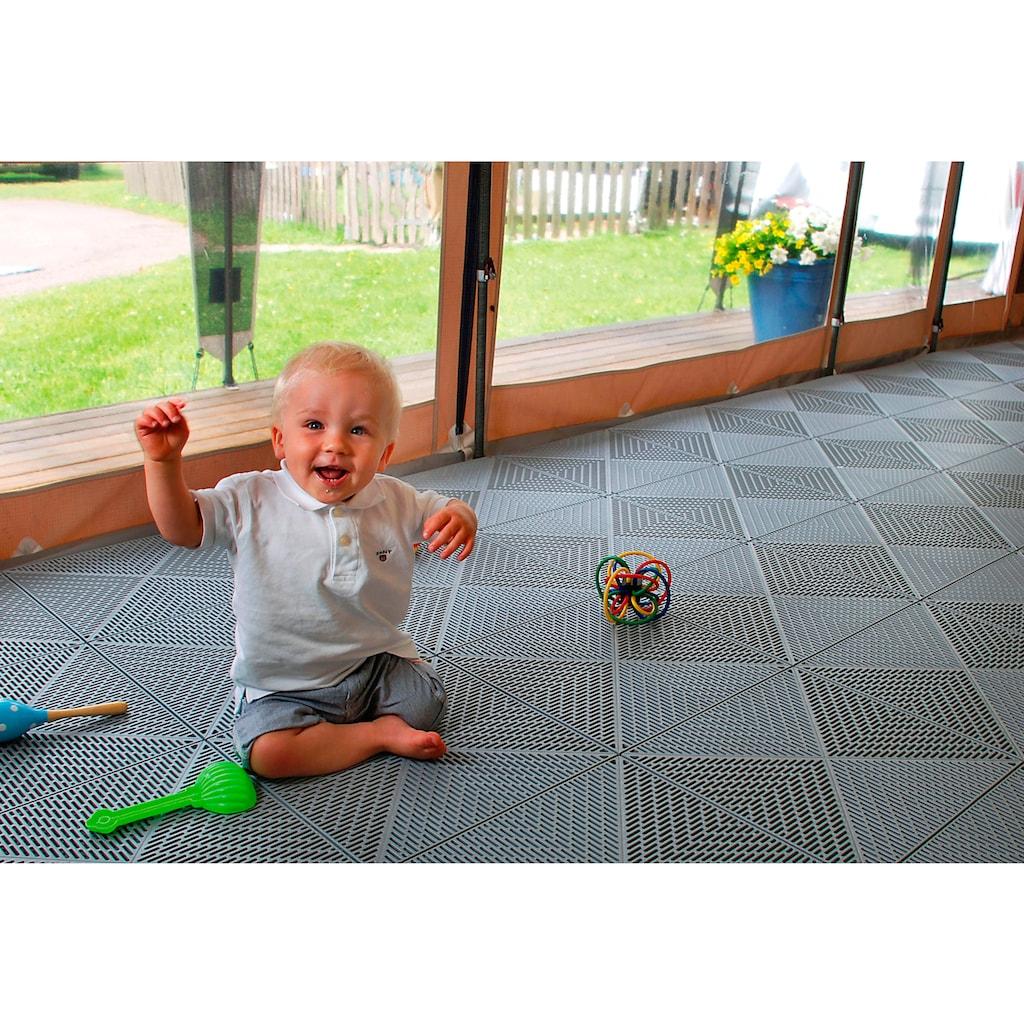 Bergo Flooring Terrassenplatten »Unique Steingrau«, Kunststofffliesen, einfach ineinanderstecken, 5m²