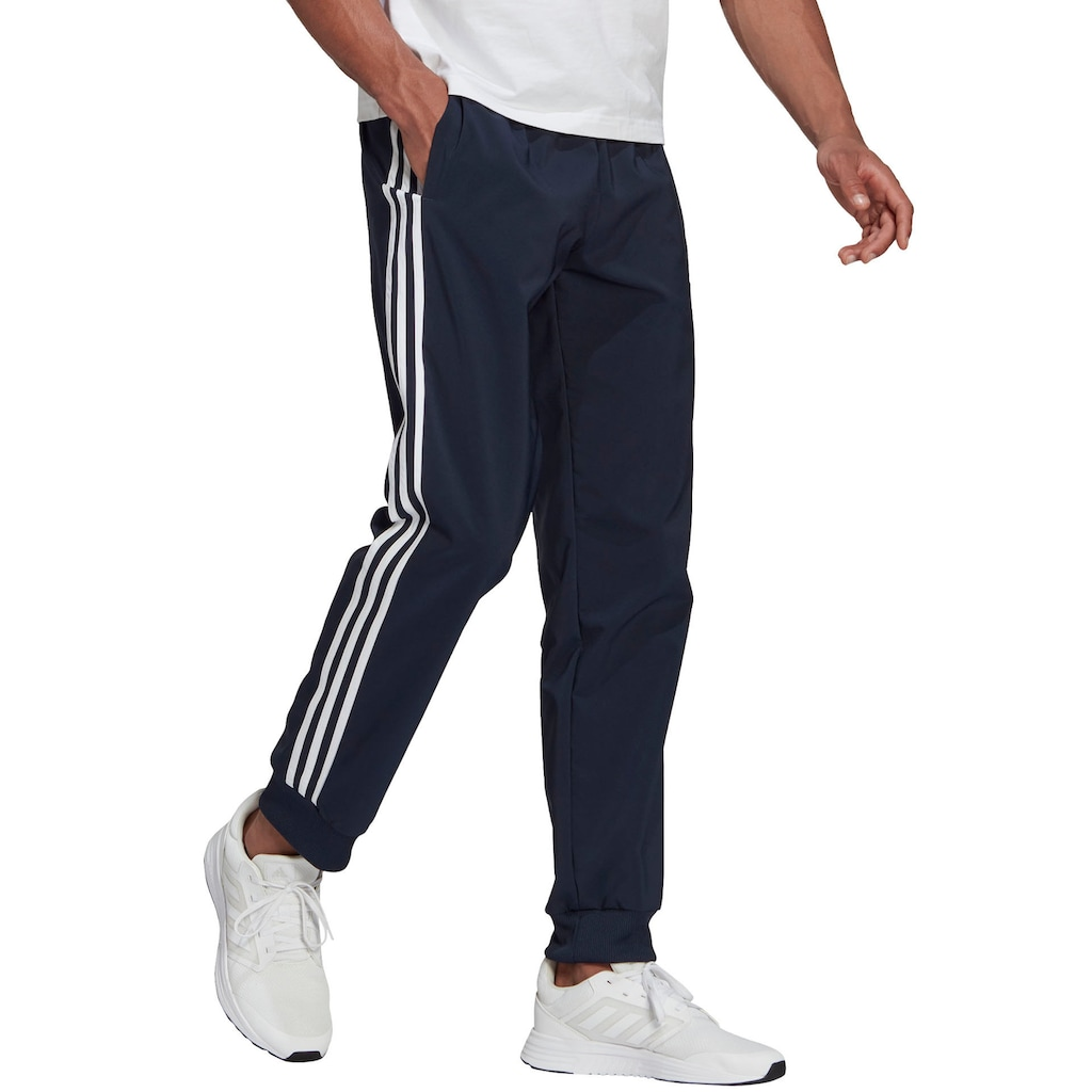 adidas Performance Trainingshose »ESSENTIALS TAPERED CUFF 3 STRIPES PANTS«
