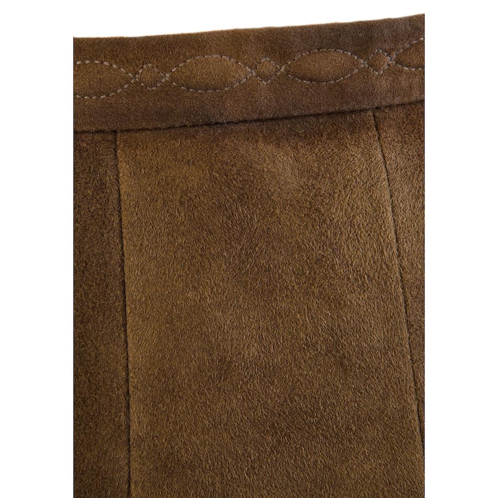 KRÜGER COLLECTION Trachtenrock »Laurena«, mit Zierstickerei