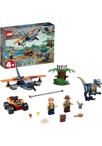 """LEGO® Konstruktionsspielsteine """"Velociraptor: Rettungsmission mit dem Doppeldecker (75942), LEGO® Jurassic World™"""", Kunststoff, (101 - tlg.) kaufen"""