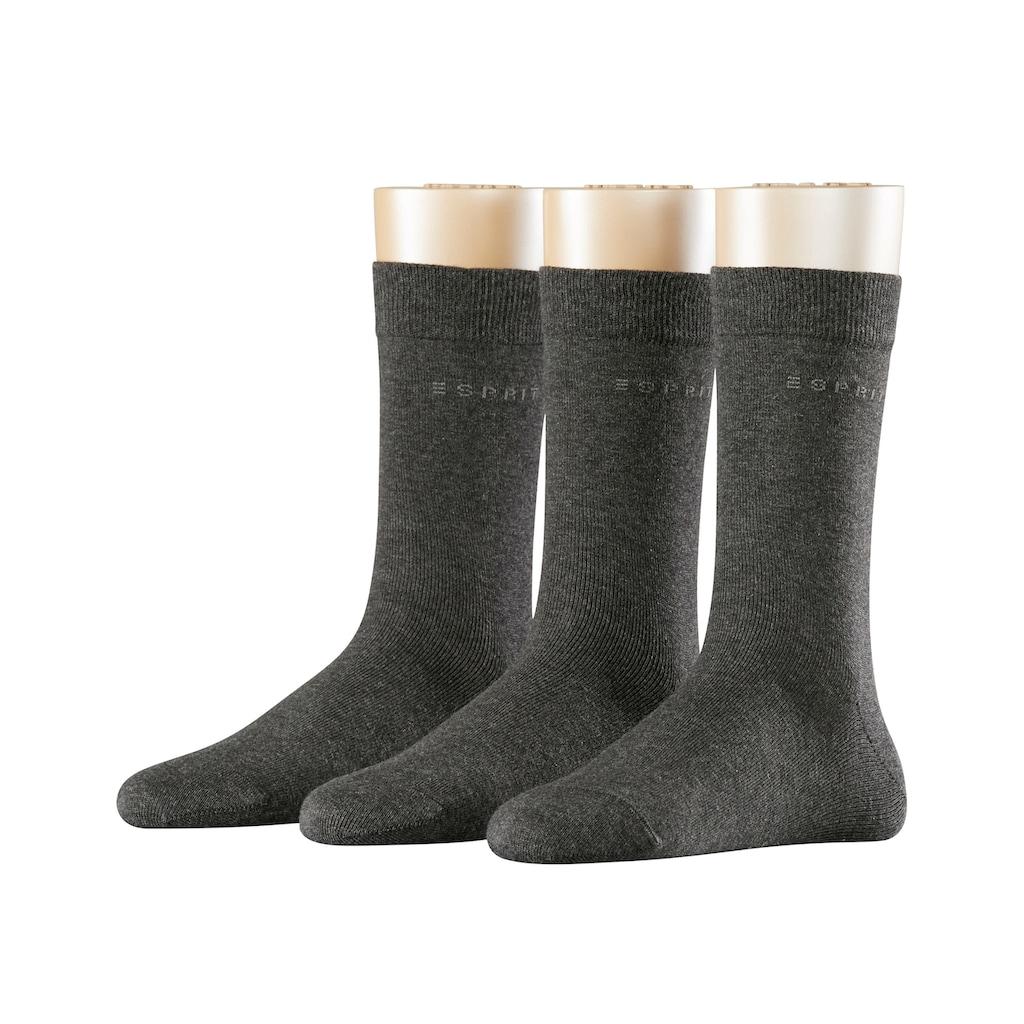 Esprit Socken »Uni 3-Pack«, (3 Paar), One size fits all (Gr. 36-41)