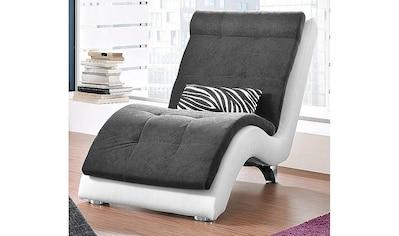 COLLECTION AB Relaxliege, inklusive Nierenkissen in Zebra-Dessin, Korpus in hochwertigem Kunstleder SOFTLUX® kaufen