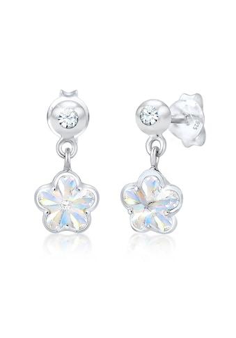 Elli Paar Ohrstecker »Kinder Blume Swarovski® Kristalle 925er Silber« kaufen