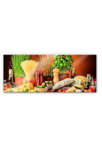 Wall-Art Küchenrückwand »Italienisch Kochen - Panorama« kaufen