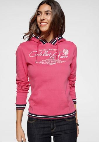 TOM TAILOR Polo Team Kapuzensweatshirt, mit gestreiften Rippbündchen an Saum, Ärmelsaum und Kapuze kaufen