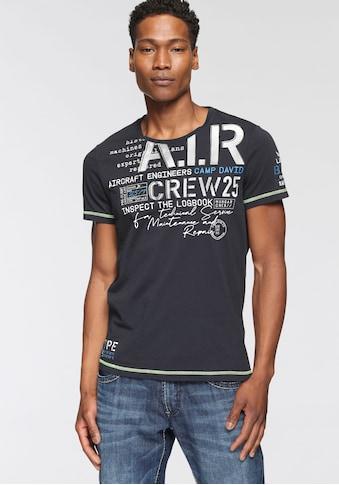 CAMP DAVID T-Shirt, mit Logofrontprint kaufen