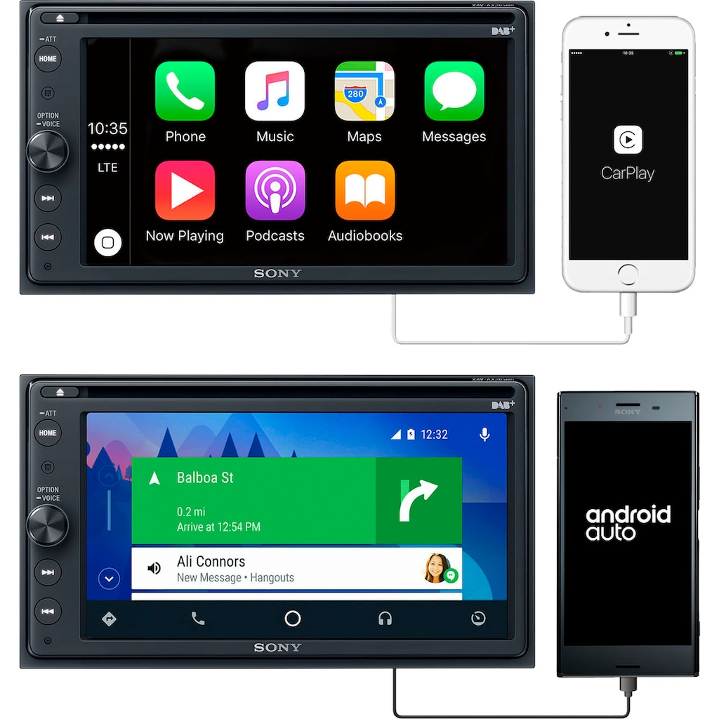 Sony Radio »XAV-AX205ANT«, (Bluetooth Digitalradio (DAB+)-FM-Tuner-AM-Tuner 220 W)
