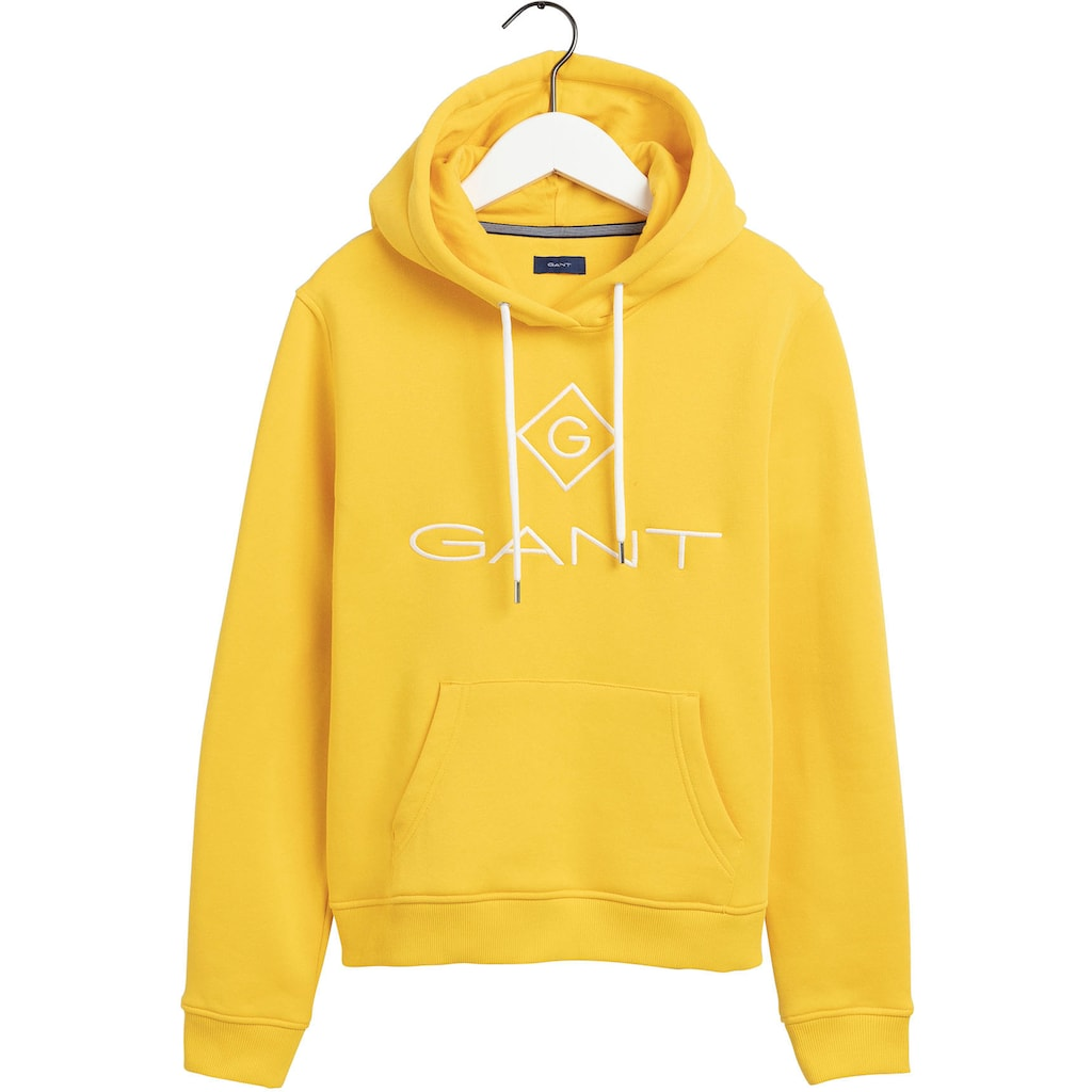 Gant Kapuzensweatshirt, mit Kontrast Logostickerei