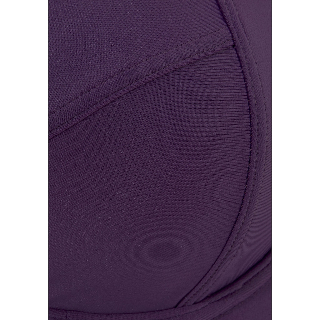 LASCANA Bügel-Bikini, mit seitlich geraffter Bikinihose