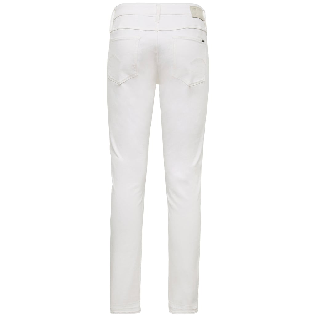 G-Star RAW Ankle-Jeans »3301 Mid Skinny RP Ankle Jeans«, mit leicht ausgefranster Kante am Saumabschluss