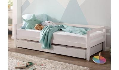 Lüttenhütt Daybett »Alpi«, mit Schubkasten aus massivem Kiefernholz, in drei unterschiedlichen Farbvarianten, Außenbreite 103 cm, Kinderbett, Einzelbett kaufen