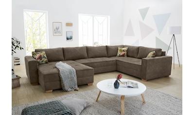 Jockenhöfer Gruppe Wohnlandschaft, Wohnlandschaft mit extra viel Platz, Bettkasten und großer Liegefläche kaufen