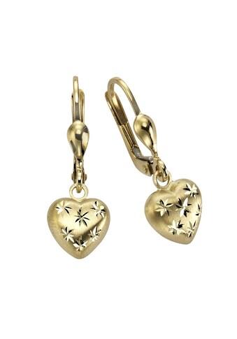 Vivance Ohrhänger »333/ -  Gelbgold Herz mit Sternen« kaufen