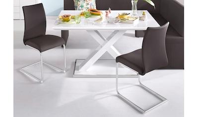 Homexperts Esszimmerstuhl »Apollo«, (2 Stück), Bezug in Kunstleder kaufen
