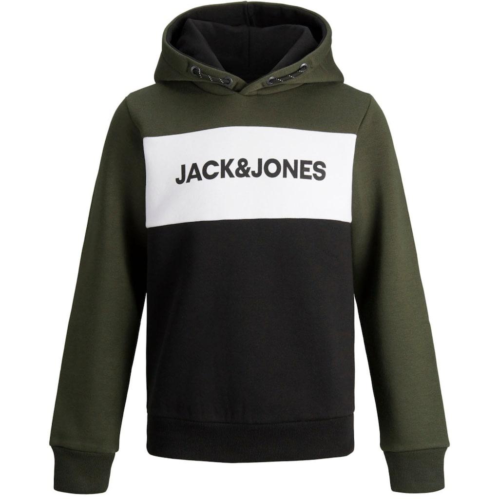 Jack & Jones Junior Kapuzensweatshirt »JJELOGO BLOCKING SWEAT H«