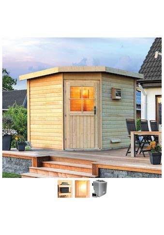 Karibu Saunahaus »Hauke«, 9-kW-Bio-Ofen mit ext. Steuerung kaufen