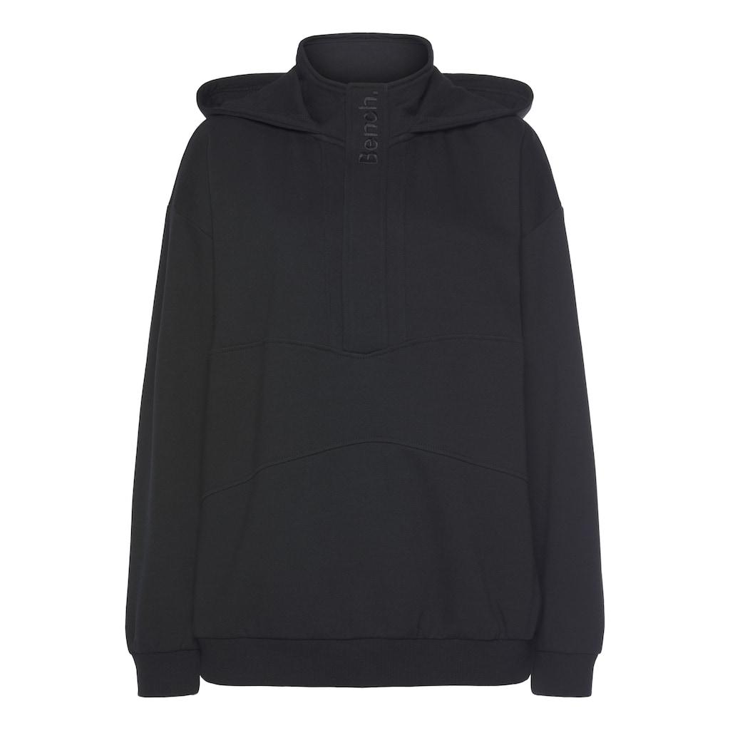 Bench. Kapuzensweatshirt, mit Stehkragen und Reißverschluss
