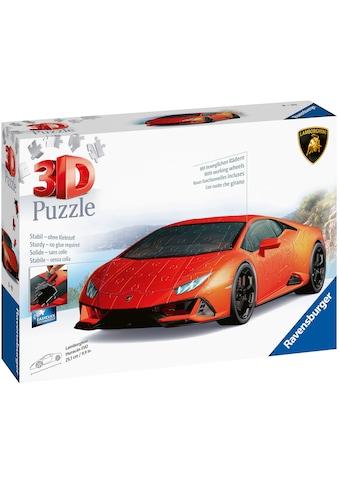 Ravensburger 3D-Puzzle »Lamborghini Huracan Evo«, mit drehbaren Rädern; Made in Europe, FSC® - schützt Wald - weltweit kaufen