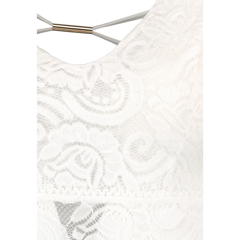 SUBLEVEL A-Linien-Kleid, aus Spitze mit Rückendetail