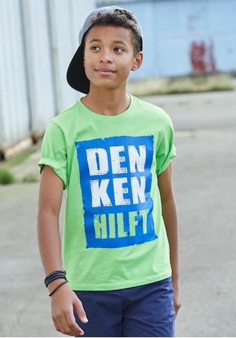 KIDSWORLD T-Shirt »DENKEN HILFT« kaufen