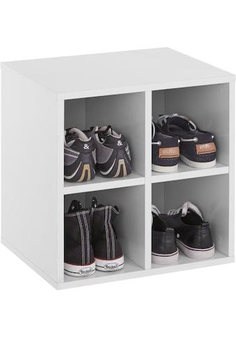 INOSIGN Schuhregal »Fricka«, mit einer schönen Holzfolien Optik, Stauraum für ca. 3... kaufen