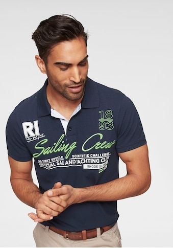 Rhode Island Poloshirt, mit Frontstickerei & Print kaufen