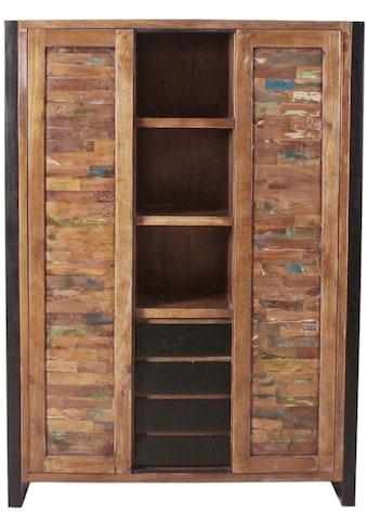 SIT Stauraumschrank »Mox«, farbiges Recyclingholz mit Eisen kaufen