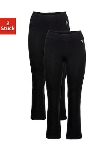 Sheego Jazzpants, (Packung, 2 tlg.), mit leicht ausgestelltem Bein kaufen