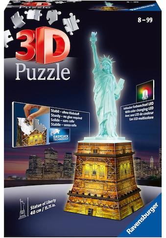 Ravensburger 3D-Puzzle »Freiheitsstatue bei Nacht«, Made in Europe, FSC® - schützt Wald - weltweit kaufen